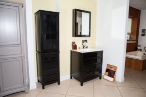 small bathroom storage solutions from weinstein showroom