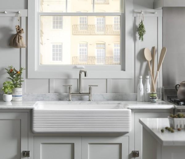 Apron-front sink in kitchen | types of kitchen sinks | Weinstein Collegeville