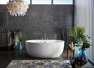 Freestanding Baths Design Ideas | Weinstein Supply on walk in tubs bathroom design, copper tub bathroom design, claw tub bathroom design, clawfoot tub bathroom design, garden tub bathroom design, corner tub bathroom design, shower bathroom design, cottage bathroom design, rectangular tub bathroom design,