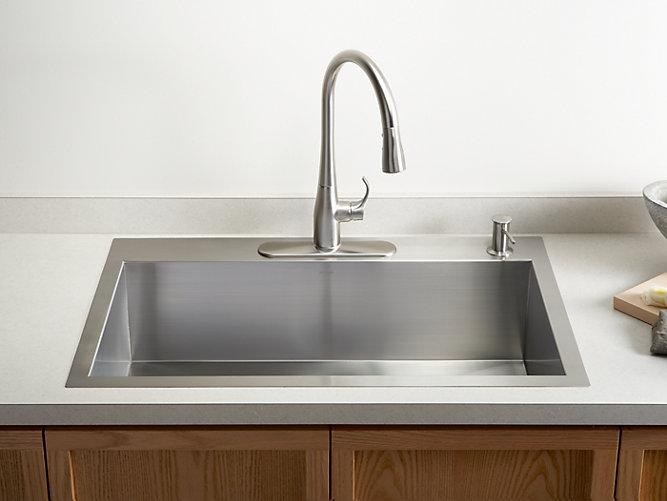 Top-mount sink in kitchen | types of kitchen sinks | Weinstein Collegeville