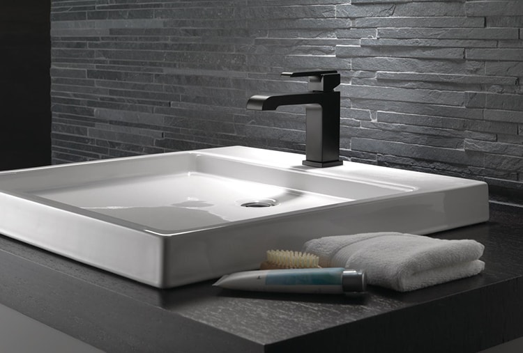 Featuring Delta Ara Single-Handle Lavatory Faucet