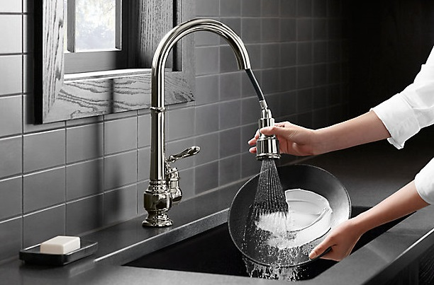 sweep spray kitchen faucet