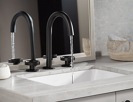 Matte Black Kohler faucet finish