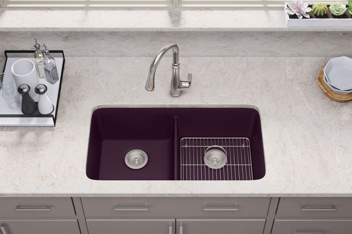 Neoroc® Cairn® Kitchen Sink in Matte Black Plum