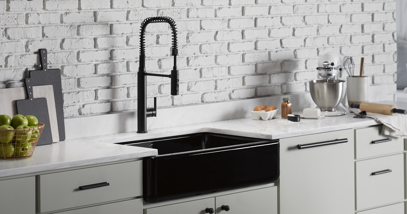 Kohler Whitehaven Cast Iron Kitchen Sink