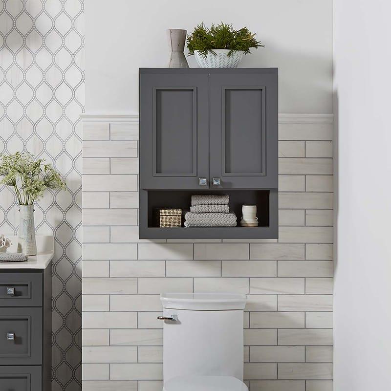 Bertch wall cabinet, small storage ideas for bathroom, Weinstein