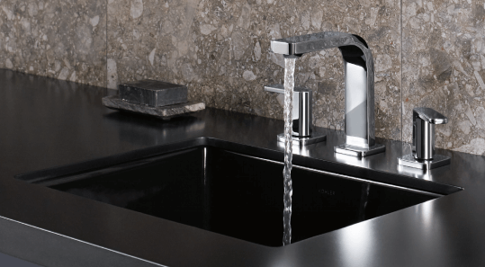 Kohler parallel widespread bathroom faucet   kohler bathroom faucets   Weinstein Collegeville