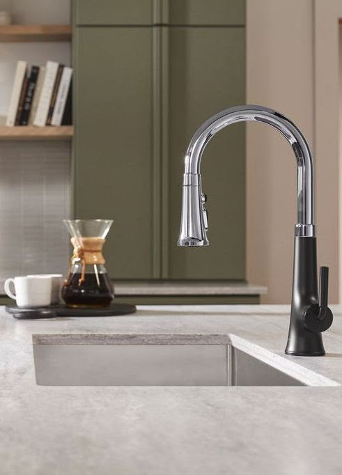 Kohler Tone kitchen faucet in polished chrome | kitchen faucet collections | Weinstein Collegeville